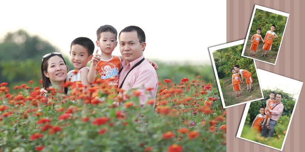 Chụp ảnh gia đình tại Hà Nội cùng ảnh viện Piano
