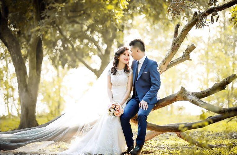 Ảnh cưới như chuyến picnic