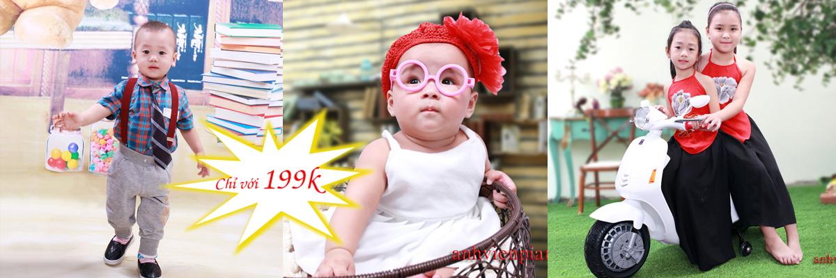 Chụp ảnh em bé ngộ nghĩnh tại Trung Kính Hà Nội