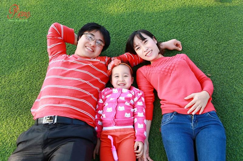 Chụp ảnh gia đình ngày tết