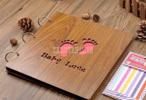Album ảnh bìa gỗ đẹp