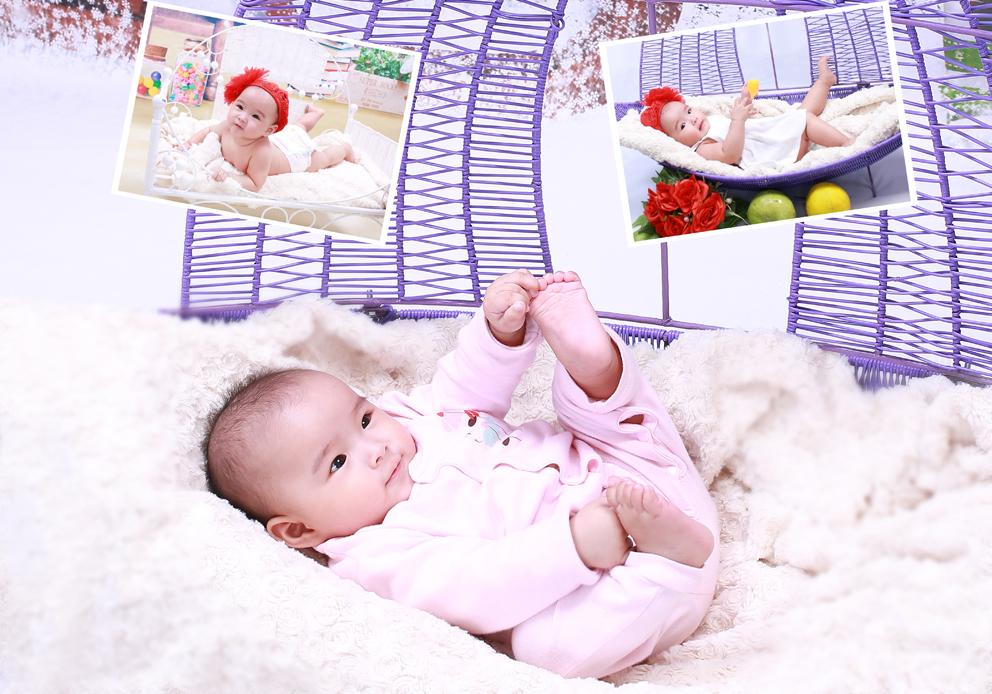 Chụp ảnh cho bé lưu giữ những khoảnh khắc