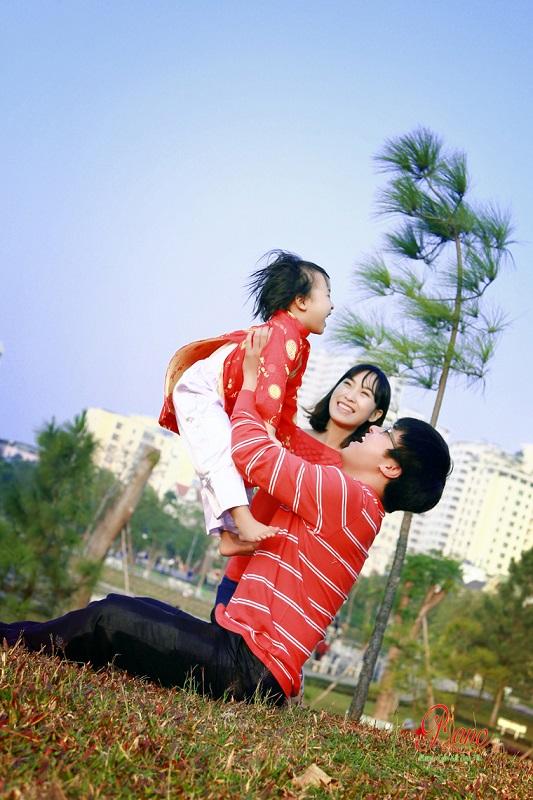 Chụp ảnh gia đình lưu giữ những hạnh phúc