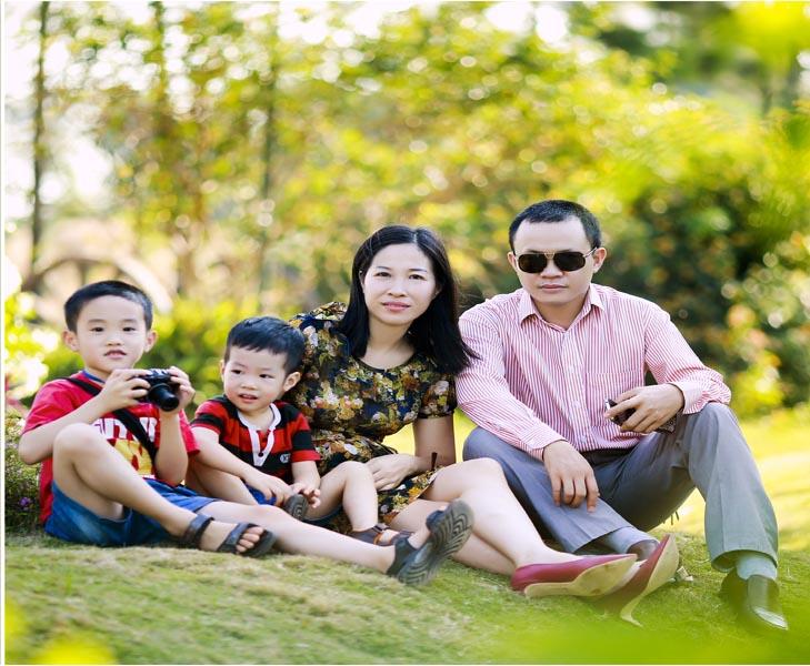 Chụp ảnh gia đình ngoại cảnh trọn gói cùng Piano