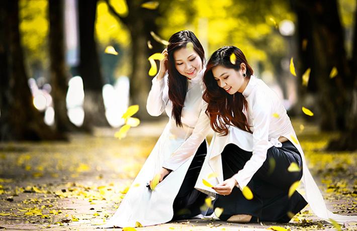 Chụp ảnh thời trang cùng tà áo dài