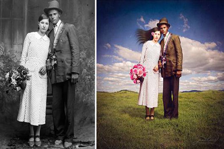 Các Công Cụ Phục Chế ảnh Cũ Bằng Photoshop