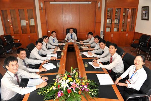 Hình ảnh ban lãnh đạo họp