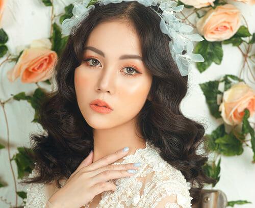 Trang điểm cô dâu Hàn Quốc tone cam
