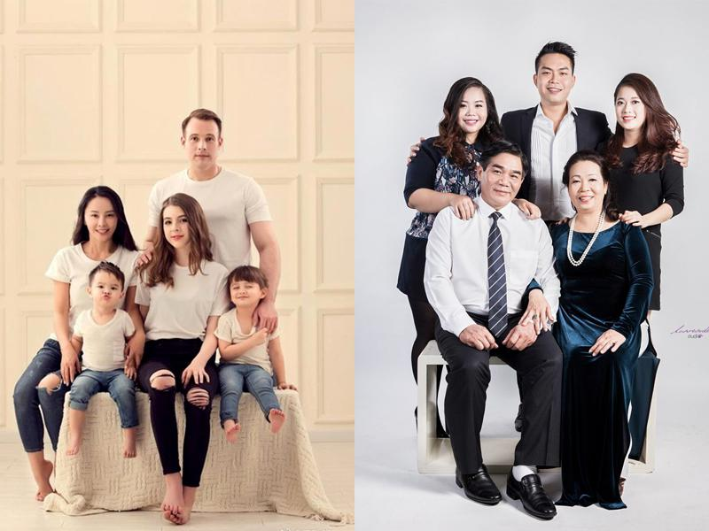 Chụp ảnh Gia đình 5 Người Kiểu Truyền Thống